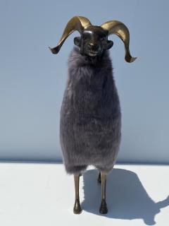 Les Lalanne Brass Ram Sheep Sculpture - 2075362