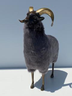 Les Lalanne Brass Ram Sheep Sculpture - 2075363