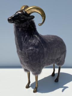 Les Lalanne Brass Ram Sheep Sculpture - 2075364