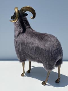 Les Lalanne Brass Ram Sheep Sculpture - 2075366