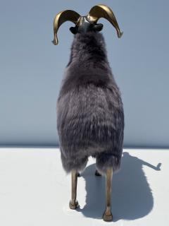 Les Lalanne Brass Ram Sheep Sculpture - 2075367