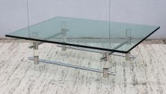 Les Prismatiques 1970s Les Prismatiques Lucite And Chrome Coffee Table - 1546649