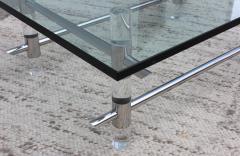 Les Prismatiques 1970s Les Prismatiques Lucite And Chrome Coffee Table - 1546655