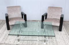 Les Prismatiques 1970s Les Prismatiques Lucite And Chrome Coffee Table - 1546656