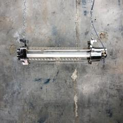Leuchtenbau Wittenberg 1970s German Industrial Aluminium Glass Explosion Proof LED Ceiling Striplight - 1117299