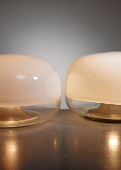 Leucos Pair of Leucos glass table lamps Italy circa 1970 - 879607