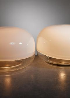 Leucos Pair of Leucos glass table lamps Italy circa 1970 - 879608