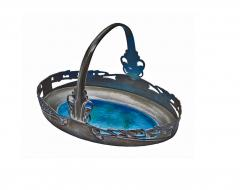 Liberty Co Archibald Knox Liberty Co Pewter and Turquoise Enamel Basket C 1900 - 241743