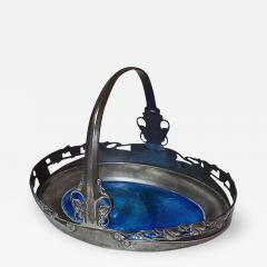 Liberty Co Archibald Knox Liberty Co Pewter and Turquoise Enamel Basket C 1900 - 242082