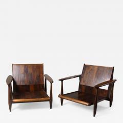 Liceu de Artes e Of cios Mid Century Modern Pair of Armchairs by Liceu de Artes e Of cios Brazil 1960s - 1389115