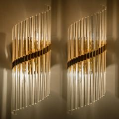 Lightolier 1 of the 4 Large Modern Sciolari Glass Rod Sconces for Lightolier 1970 - 1154659