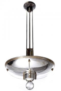 Lightolier High Style Silver Plated Art Deco Lightolier Chandeliers Matching Pair - 507843