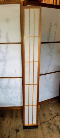 Lightolier Nakashima Style Walnut and Birch Floor Lamp by Lightolier 1960s - 2073331