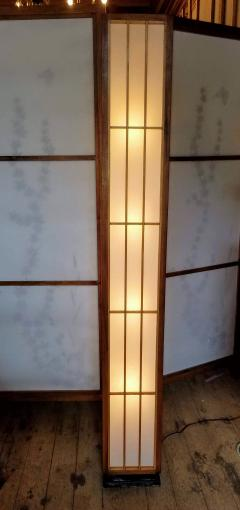 Lightolier Nakashima Style Walnut and Birch Floor Lamp by Lightolier 1960s - 2073332