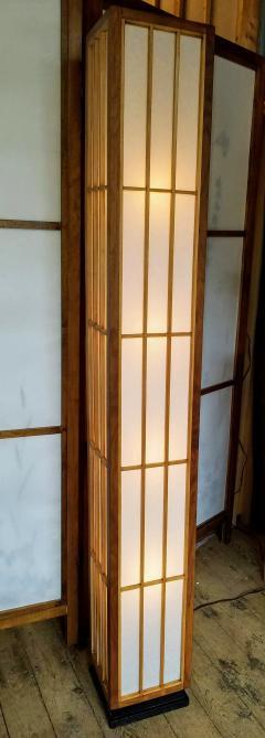 Lightolier Nakashima Style Walnut and Birch Floor Lamp by Lightolier 1960s - 2073334