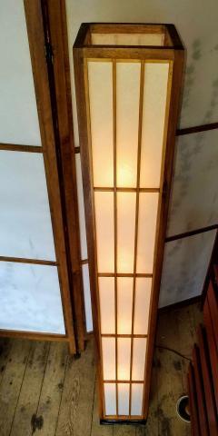 Lightolier Nakashima Style Walnut and Birch Floor Lamp by Lightolier 1960s - 2073335