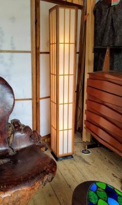 Lightolier Nakashima Style Walnut and Birch Floor Lamp by Lightolier 1960s - 2073336