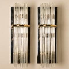 Lightolier Pair of Modern Sciolari Glass Rod Sconces by Sciolari for Lightolier 1970 - 1165025