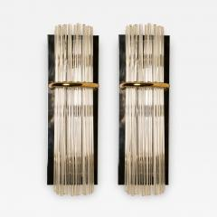 Lightolier Pair of Modern Sciolari Glass Rod Sconces by Sciolari for Lightolier 1970 - 1171732