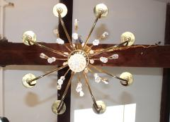Lightolier Tommi Parzinger Style Brass And Crystal Chandelier - 1546612