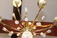 Lightolier Tommi Parzinger Style Brass And Crystal Chandelier - 1546621