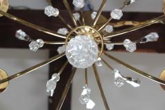 Lightolier Tommi Parzinger Style Brass And Crystal Chandelier - 1546624