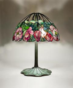 Lillian Nassau LLC Extremely Rare Lotus Table Lamp by Tiffany Studios c 1906 - 886478