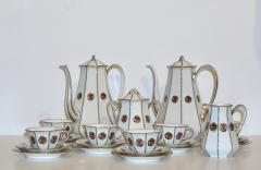 Limoges 1920s French Art Deco Limoges Porcelain Modern Octagonal Tea Coffee Set - 1217087