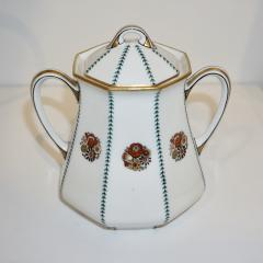 Limoges 1920s French Art Deco Limoges Porcelain Modern Octagonal Tea Coffee Set - 1217091