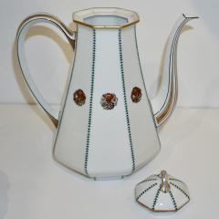 Limoges 1920s French Art Deco Limoges Porcelain Modern Octagonal Tea Coffee Set - 1217093
