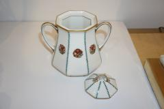 Limoges 1920s French Art Deco Limoges Porcelain Modern Octagonal Tea Coffee Set - 1217094
