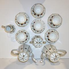 Limoges 1920s French Art Deco Limoges Porcelain Modern Octagonal Tea Coffee Set - 1217097