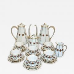 Limoges 1920s French Art Deco Limoges Porcelain Modern Octagonal Tea Coffee Set - 1218603