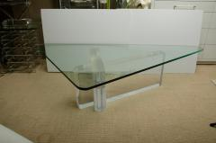 Lion in Frost Fabulous Lucite and Glass Coffee Table by Lion In Frost signed - 1198071