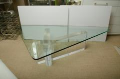 Lion in Frost Fabulous Lucite and Glass Coffee Table by Lion In Frost signed - 1198073