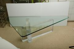 Lion in Frost Fabulous Lucite and Glass Coffee Table by Lion In Frost signed - 1198074