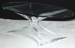 Lion in Frost Lion in Frost Lucite Butterfly Coffee Table - 246851