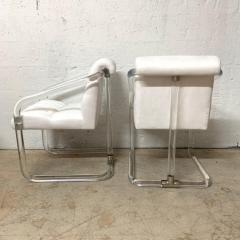 Lion in Frost Pair of Lion in Frost Lucite Nickel and Ultra Suede Armchairs Signed USA 1970s - 1657815