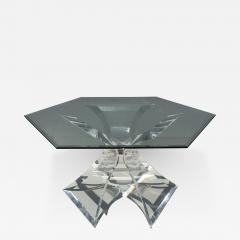 Lion in Frost Tripod Lucite Dining Table by Lion in Frost of Leon Frost - 440127