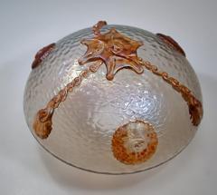 Loetz L tz Jugendstil Deckenleuchte Dekor Nautilus Loetz 1920 - 1314633