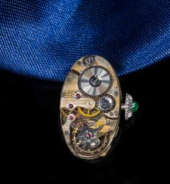 Longines Longines Platinum Art Deco 1920s 14 Carat Diamond Emerald Egyptian Revival Watch - 1731697