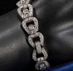 Longines Longines Platinum Art Deco 1920s 14 Carat Diamond Emerald Egyptian Revival Watch - 1731703