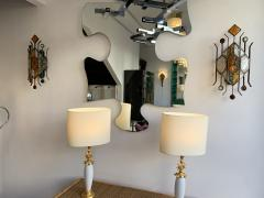 Longobard Pair of Hammered Glass Sconces by Longobard Italy 1970s - 1593419