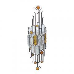 Longobard SET OF 3 HAMMERED GLASS WALL LIGHTS BY LONGOBARD - 1811918