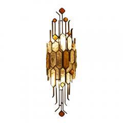 Longobard SET OF 3 HAMMERED GLASS WALL LIGHTS BY LONGOBARD - 1811919