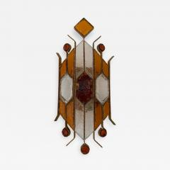 Longobard Sconce Hammered Glass by Longobard Italy 1970s - 1400293