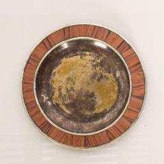 Los Castillo Los Castillo Decorative Plate Bronze Silver Plate Dish Mexico 1970s - 1412072