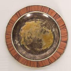 Los Castillo Los Castillo Decorative Plate Bronze Silver Plate Dish Mexico 1970s - 1412073