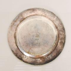 Los Castillo Los Castillo Decorative Plate Bronze Silver Plate Dish Mexico 1970s - 1412074