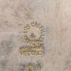 Los Castillo Los Castillo Decorative Plate Bronze Silver Plate Dish Mexico 1970s - 1412075